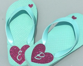 Personalized flip flops - girls and women