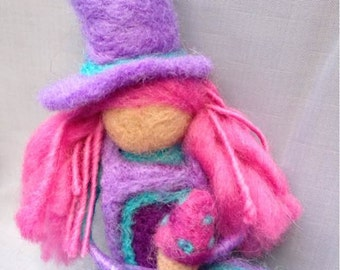 Phoebe OOAK Needle Felted Wool Doll