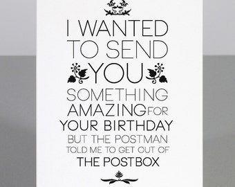 Birthday card, blank greeting card, birthday card, humourous greeting card, funny greeting cards, children's birthday