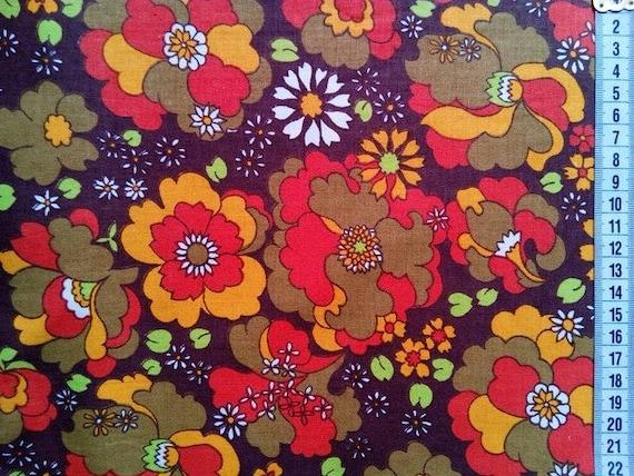 Retro Fabric By The Yard Vintage Fabric Craft Fabric