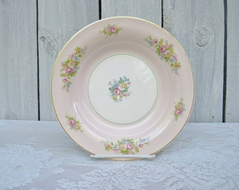 Pink Rose Bowls, American Limoges, Troubadour pattern, 40s Pink Shabby Chic Mis-matched Wedding bowls, Tea Party, Pink Rose Salad bowls