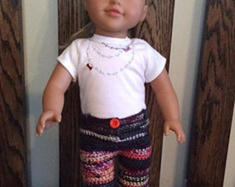 "Skinny Jeans Pattern for 18"" Doll"