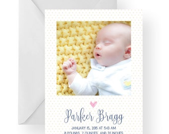 Birth Announcement, Baby boy announcement, baby girl announcement