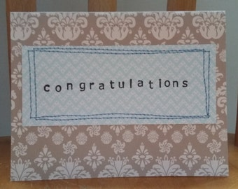congratulations stitch greeting card