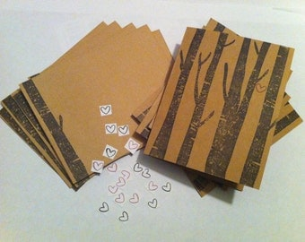 Trees with Heart Notecards - 5pk with Envelopes and Stickers