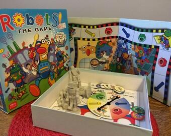 Robots Board Game Vintage for Kids Ages 6+ Build a Robot for kids