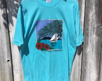 Virgin islands t shirt size xl thin