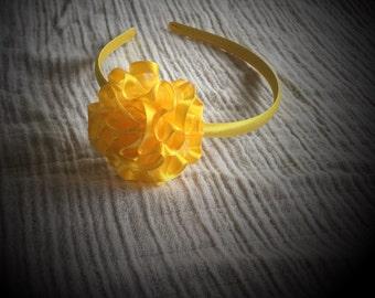 Yellow Headband, Yellow puff headband
