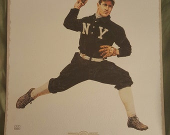 Christy Mathewson artist signed  and  numbered  Lithograph