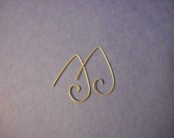 Sterling silver simple curl earrings