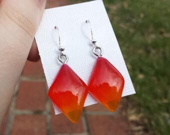 Fiery Ombre Earrings - Diamond