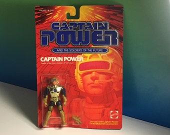 1987 MATTEL CAPTAIN POWER vintage action figure moc sealed Leader heroic soldiers of future 100% original space toy