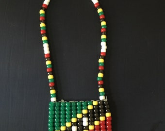 St. Kitts and Nevis pride beaded necklace