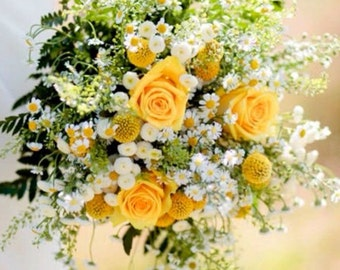 Yellow Rose Bridal Bouquet