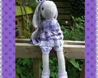 Crochet, crocheted bunny rabbit, 41 cm.