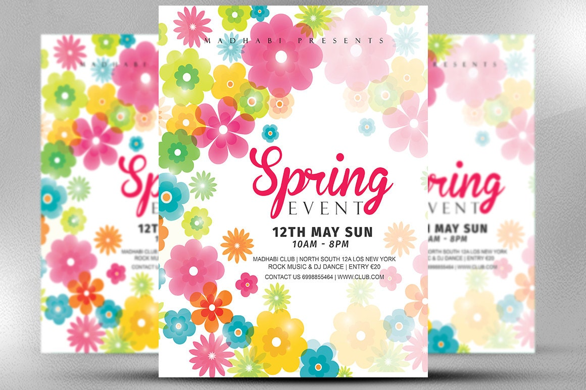 event flyer spring event flyer template spring festival flyer template spring flyer adobe photoshop photoshop elements template instant