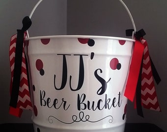 Personalized Bucket - 10 Quart - Beer Bucket / Gift Basket / Father's Day