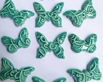 10 Super Cute Ceramic Butterfly Tiles That Can Be Used In Mosaic And Other Mixed Media Projects