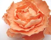 Peony - Peach/Light Coral. Gum paste flowers cake toppers cake decoration sugar paste