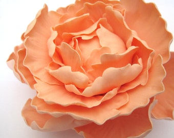 Peony - Peach/Light Coral. Gum paste flowers cake toppers cake decoration sugar paste