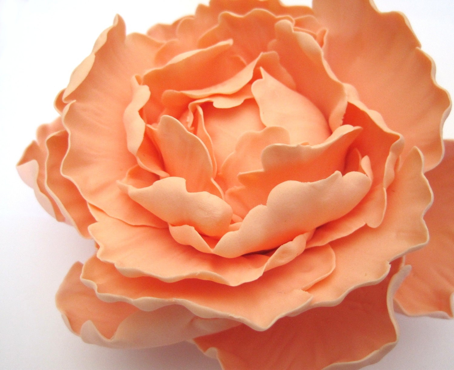 Peony Peach Light Coral Gumpaste flowers cake toppers gum