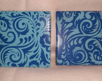 Set of Blue Coasters