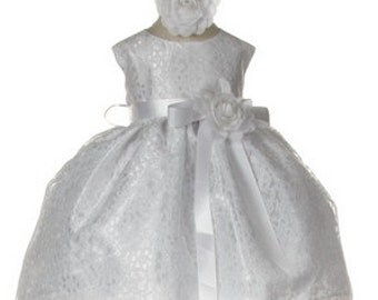 Baby Dress Lace Baby Dress Toddler Dress with Lace Baptism or Christening