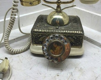 Antique French Victorian Rotary Dial Telephone