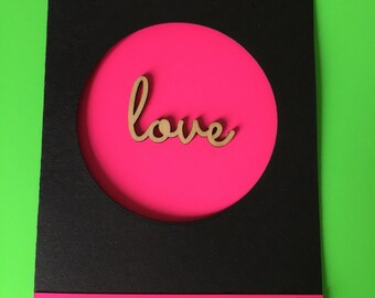Neon Love Card
