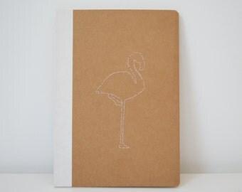 Book Flamingo Pink line A5