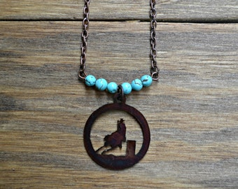 Barrel Racer Turquoise Necklace