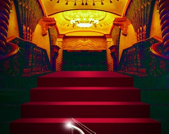 Red carpet Photography Backdrop,Princess slipper photo Background-weeding decorative backdrop-canvas or vinyl photoshoot props XT-2587