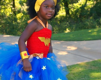 Wonder Woman tutu - superhero tutu dress - Wonder Woman tutu dress - Tutu Dress - superhero tutu dress - superhero birthday party