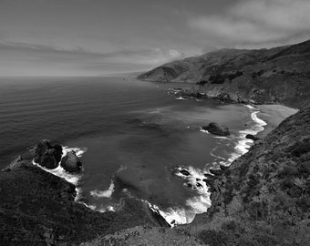 Northern California Coastline Landscape Photo Art Print