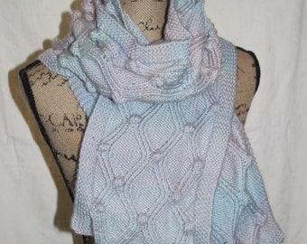 Diamonds and Bubbles Scarf knit pattern
