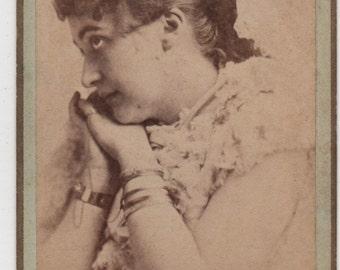 Pair of Antique CDV Photos of Maude Granger, Broadway and Silent Film Actress