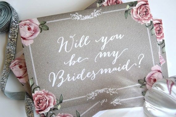 Personalised will you be my bridesmaid and maid of honour cards
