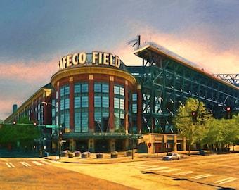 Seattle Mariners, Safeco Field, Man Cave, College Dorm, Mariners, Baseball, Stadium, Ballpark, Seattle, Large Art Print, Guy Gift, Boyfriend