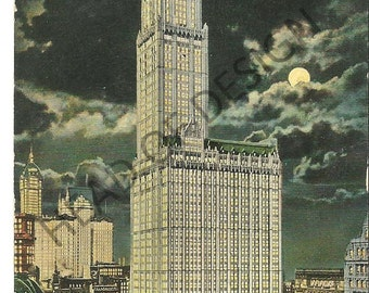 Three New York City Skyscraper postcards from early 1900s