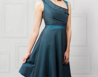Lydia Dress Teal Blue