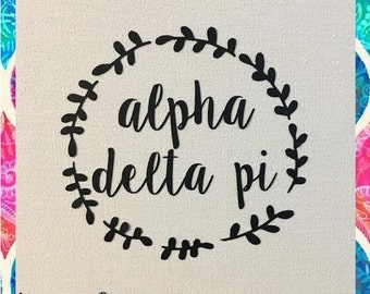Alpha Delta Pi sorority vinyl decal
