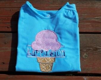 Ice cream shirt w/ name