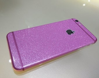 iphone 6 skin shiny pink  with pink