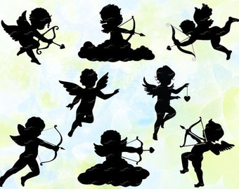 Cupid Angel svg, dxf, studio v3, eps, cdr, jpeg, png, cut file for Silhouette Cameo, Curio, cutting machines, instant download