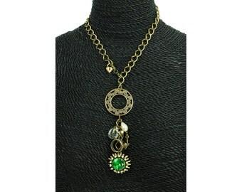 "Custom Artisan Jewelry Necklace ""Emerald Isle"" Handmade One of A Kind"