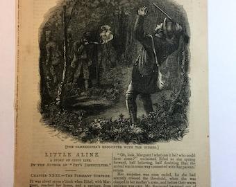 Vintage Book Page - Sunshine - November 1876 - Illustrated