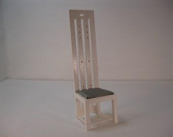 Dolls house 1/12th scale Charles Rennie Mackintosh high back chair