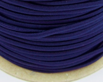 5, 10, 50 meter rubber cord 3mm dark blue