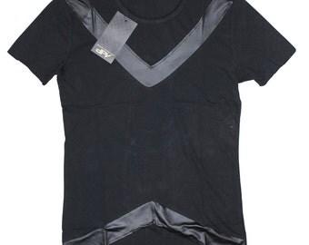 """model #e25 fantastic black men's t-shirt """"dpv"""" ,sizes-S,M,L,XL"""