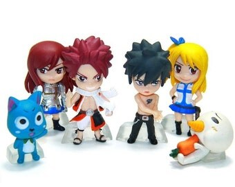 Mister A Gift Fairy Tail Anime Manga set of 6 Plastic Cake toppers